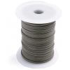 Cotton Wax Cord 3mm Flat Dark Brown
